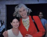Mrs. Eunice Kennedy Shriver and Flor at a Special Olympics event.