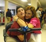 Vivian Fernandez de Torrijos with Alewxander Torrijos, a member of the Panamerican School chapter