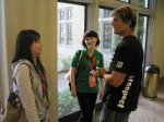 Ga Yung and Soo Jeung meet Anthony Shriver between sessions