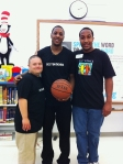 Chris Gay, Mario Chalmers, and Marcus Gray