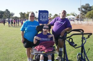 Patrick Utitus with his family at the Best Buddies Friendship Walk in Tempe, Arizona