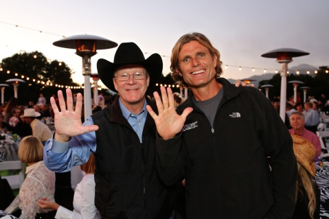 Steve Hearst & Anthony K. Shriver at the 10th Anniversary Best Buddies Challenge: Hearst Castle at the Hearst Dairy Barn Victory Barbeque Celebration