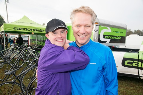 Best Buddies Ambassador Daniel Noltemeyer & Scott Keogh, President of Audi of America and Challenge Chairman at the Audi Best Buddies Challenge: Washington, D.C.