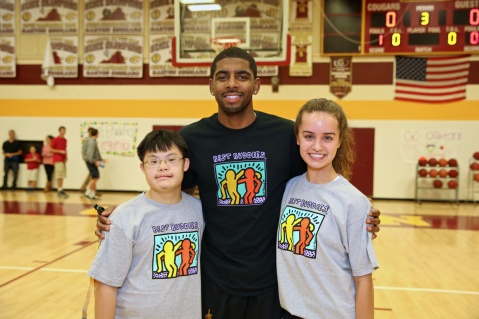 Kyrie Irving (middle) at the Audi Best Buddies Challenge: Washington, D.C.