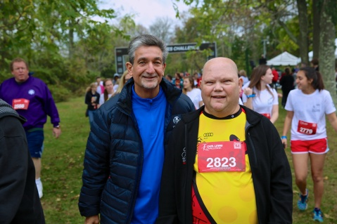 Ted Leonsis and his buddy Ken Holden at the Audi Best Buddies Challenge: Washington, D.C.