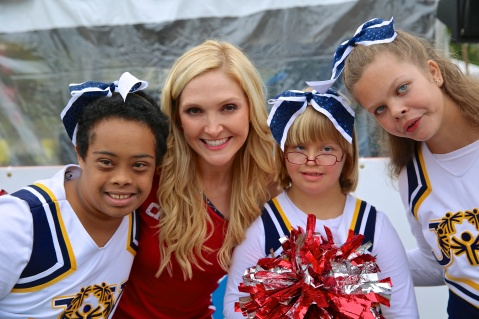 Washington Wizards and Special Olympics Maryland cheerleaders at the Audi Best Buddies Challenge: Washington, D.C.