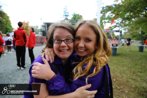 Paige and Mollie at the Best Buddies Challenge