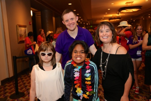 Marlana VanHoose, Daniel Noltemeyer, Shelby Fontanilla, and Lisa Smith | Photo by John David Arroyo, Best Buddies International